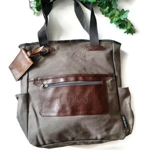 FIELD & Co. Brown canvas /leather Field Bag